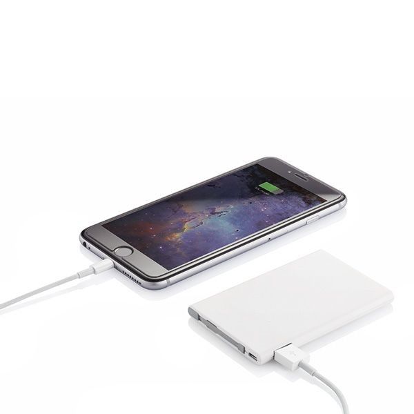 2500 mAh powerbank, wit/grijs, View 5