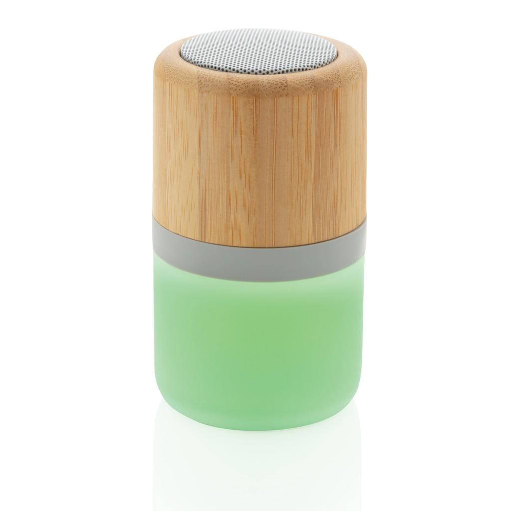 Draadloze bamboe 3W speaker met sfeerlicht, View 3