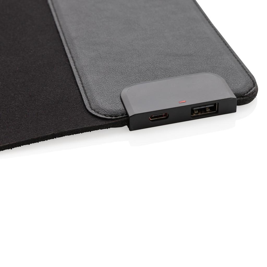 Muismat met 15W draadloze oplader met USB poorten, View 3