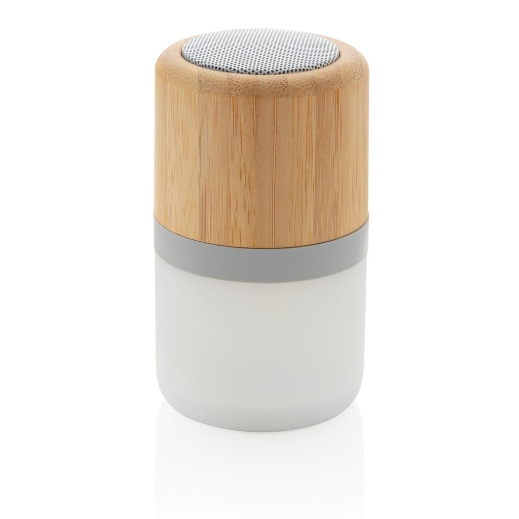 Draadloze bamboe 3W speaker met sfeerlicht