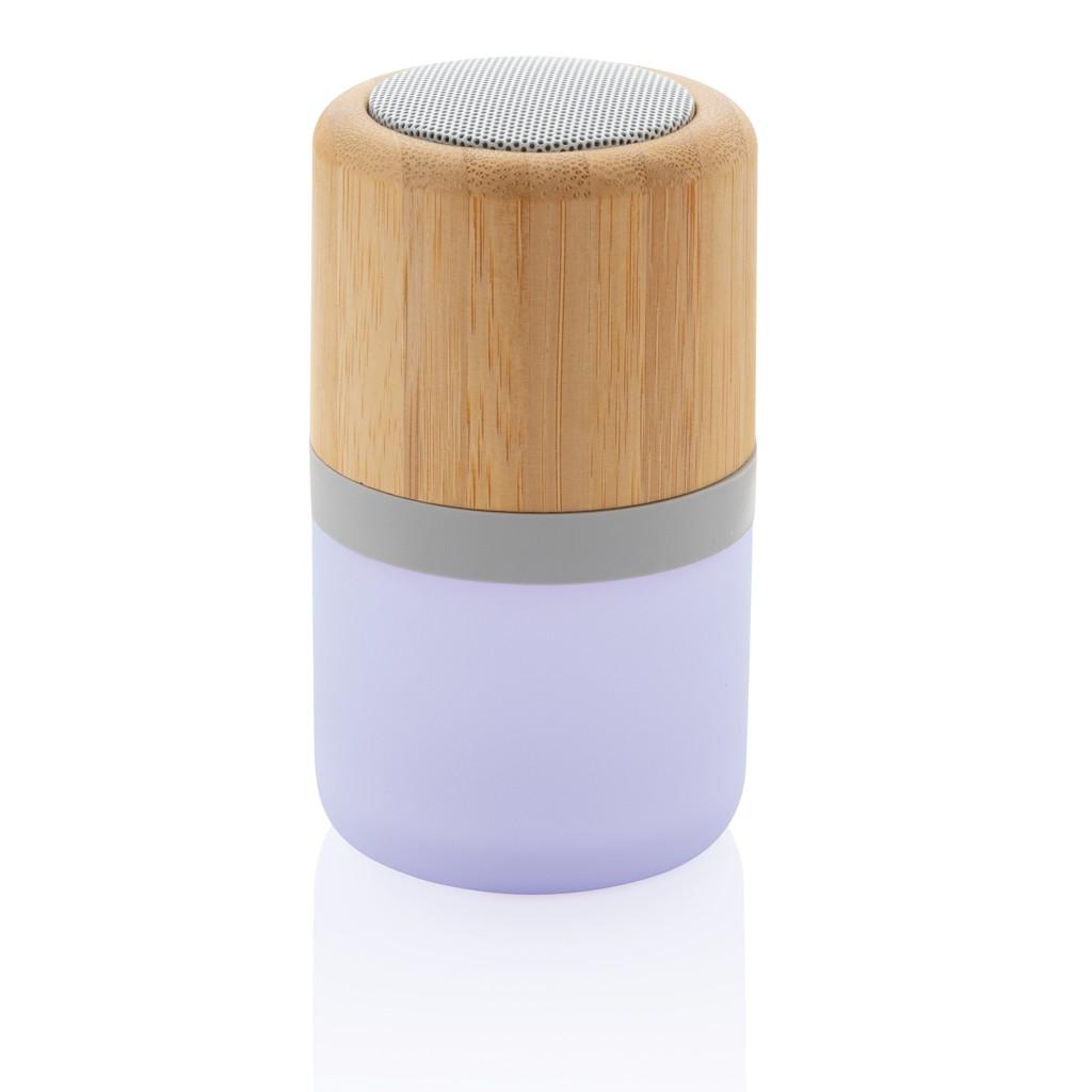 Draadloze bamboe 3W speaker met sfeerlicht, View 4