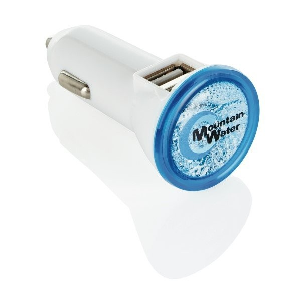 Duo auto USB oplader, wit, View 5