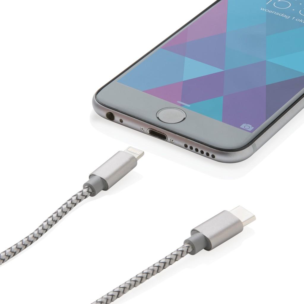3-in-1 gevlochten nylon kabel