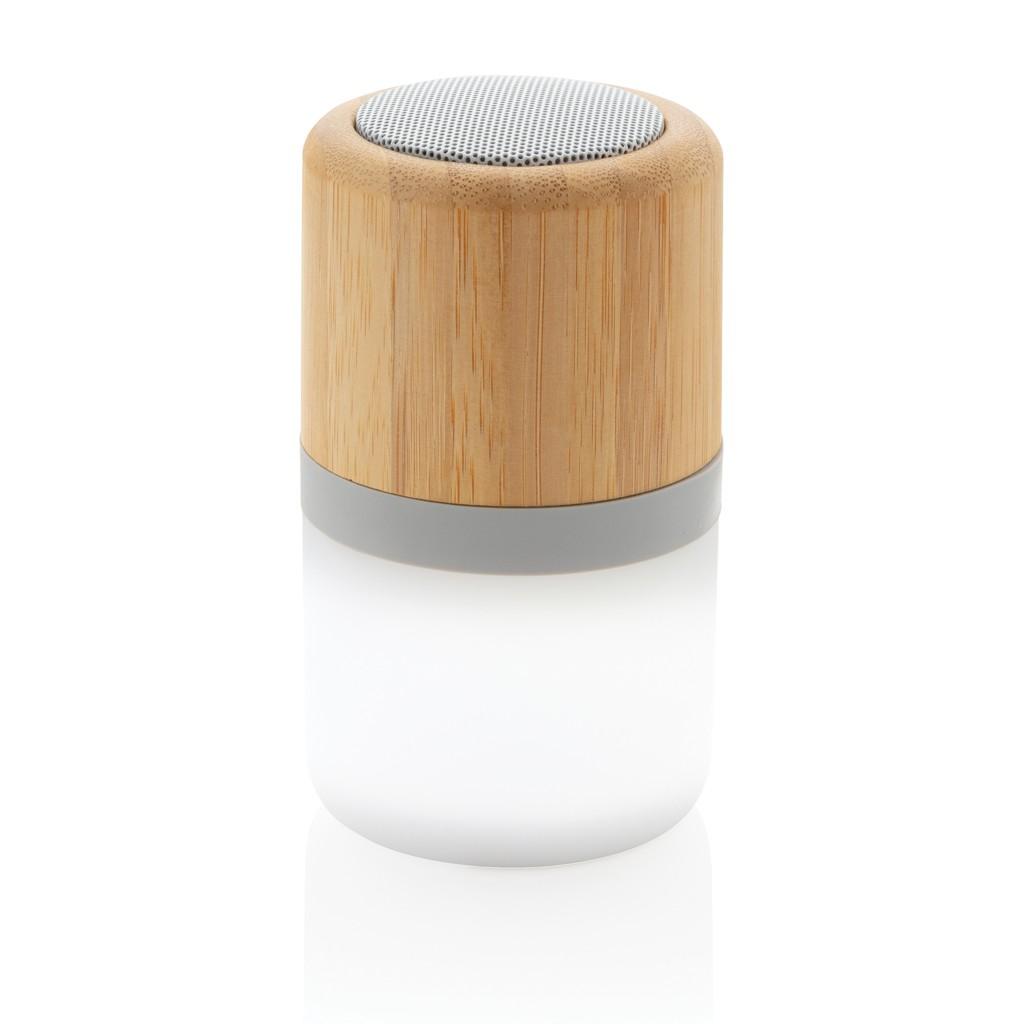 Draadloze bamboe 3W speaker met sfeerlicht, View 2