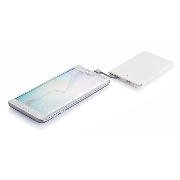 2500 mAh powerbank, wit/grijs, View 3