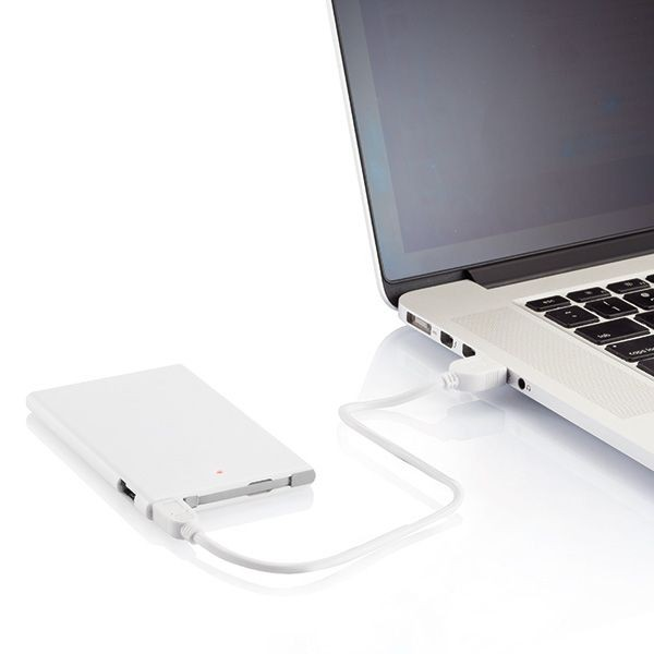 2500 mAh powerbank, wit/grijs, View 7