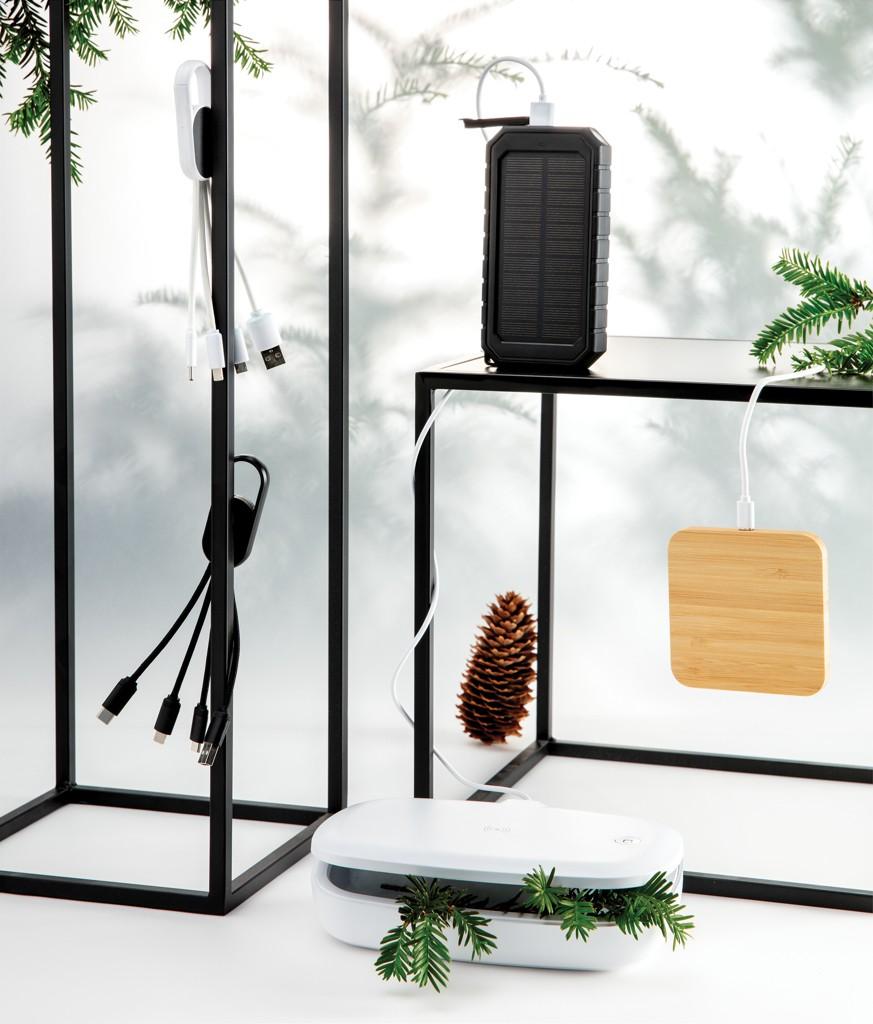 Bamboe 5W draadloze oplader met usb poorten, View 8