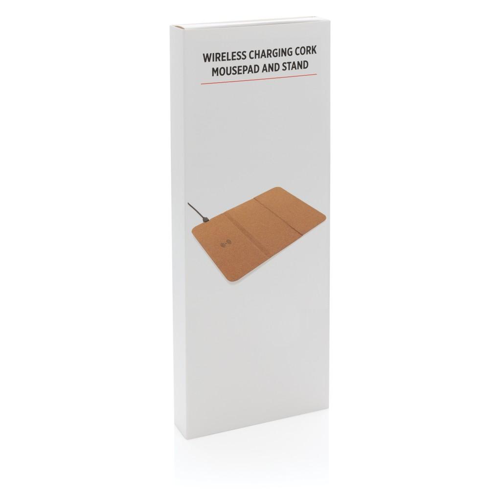 5W kurk draadloze oplader muismat met standaard, View 6