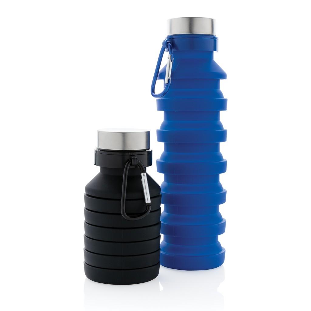Lekvrije opvouwbare siliconen fles met schroefdop, View 9