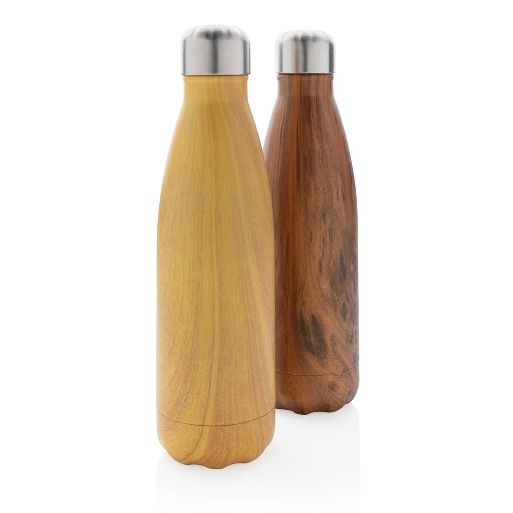 Vacuüm roestvrijstalen fles met houtdessin, View 7