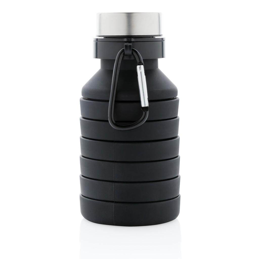 Lekvrije opvouwbare siliconen fles met schroefdop, View 2