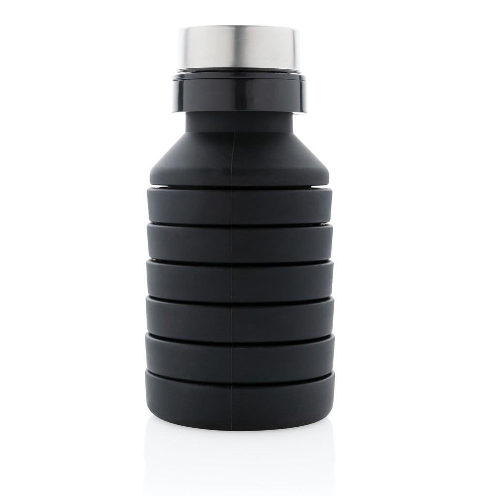 Lekvrije opvouwbare siliconen fles met schroefdop, View 3