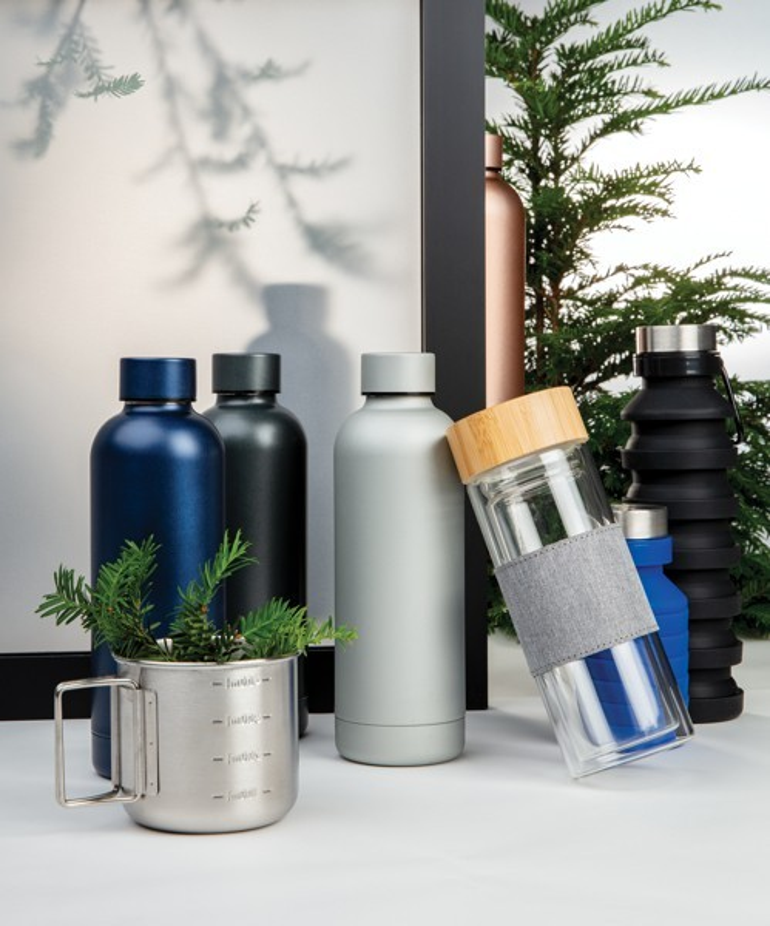 Lekvrije opvouwbare siliconen fles met schroefdop, View 12