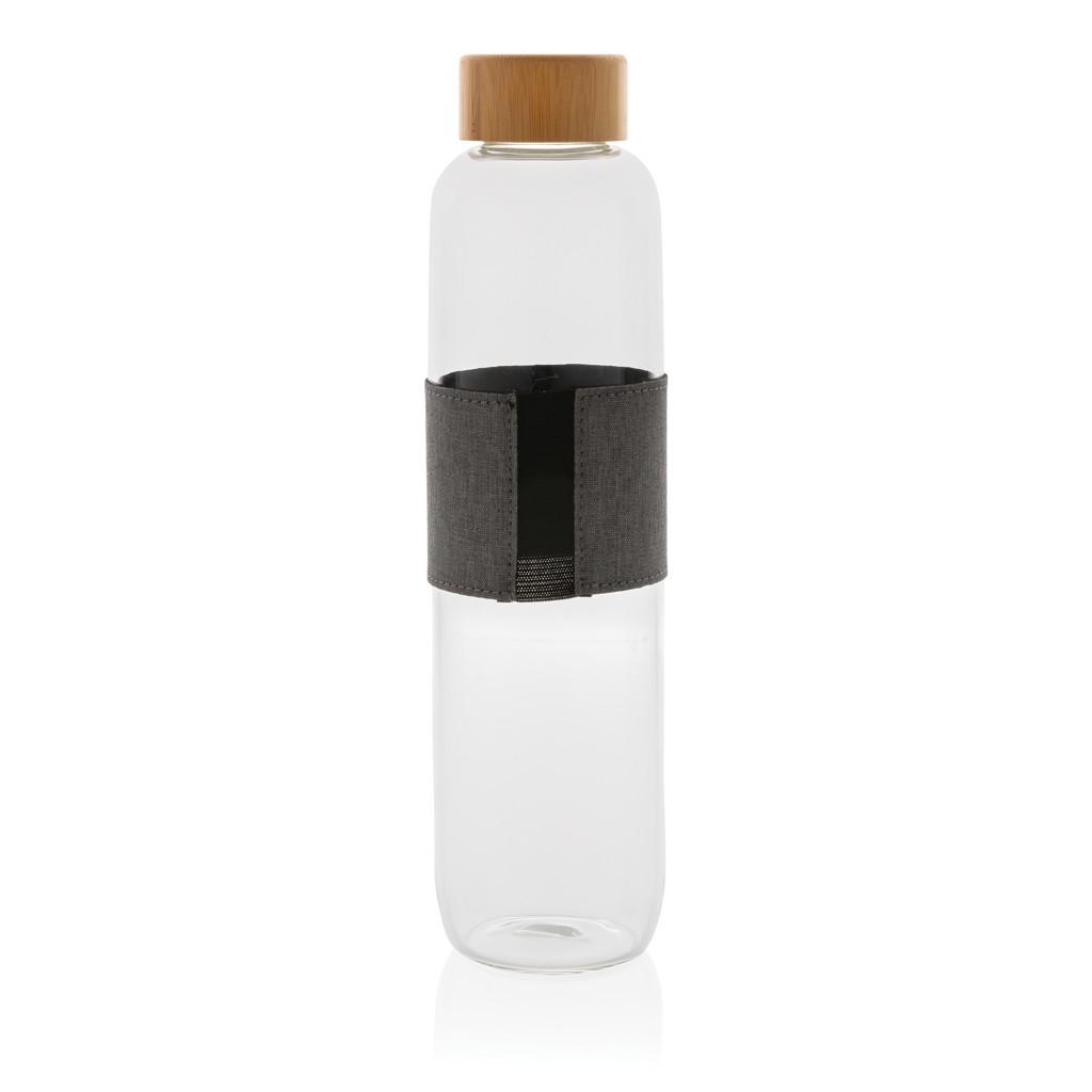 Impact borosilicaat glazen fles met bamboe deksel, View 2