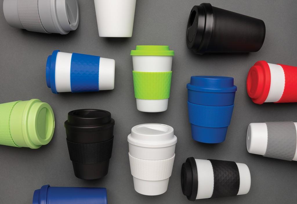 Herbruikbare koffiebeker met schroefdop 350ml, View 6