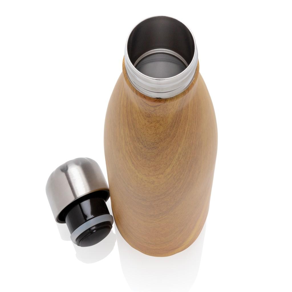 Vacuüm roestvrijstalen fles met houtdessin, View 3