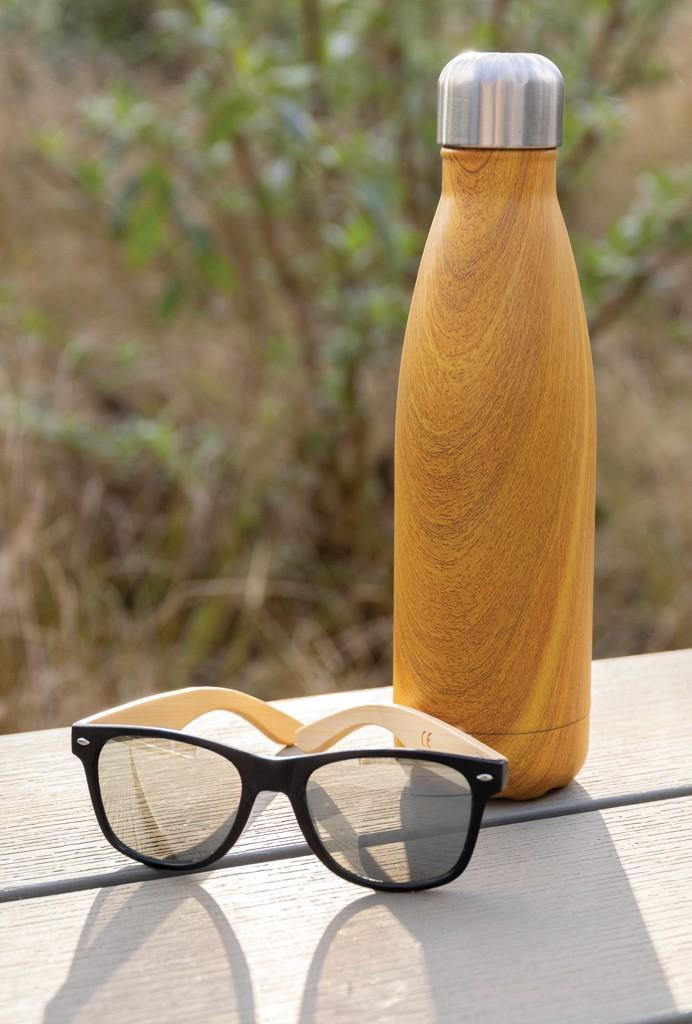 Vacuüm roestvrijstalen fles met houtdessin, View 8