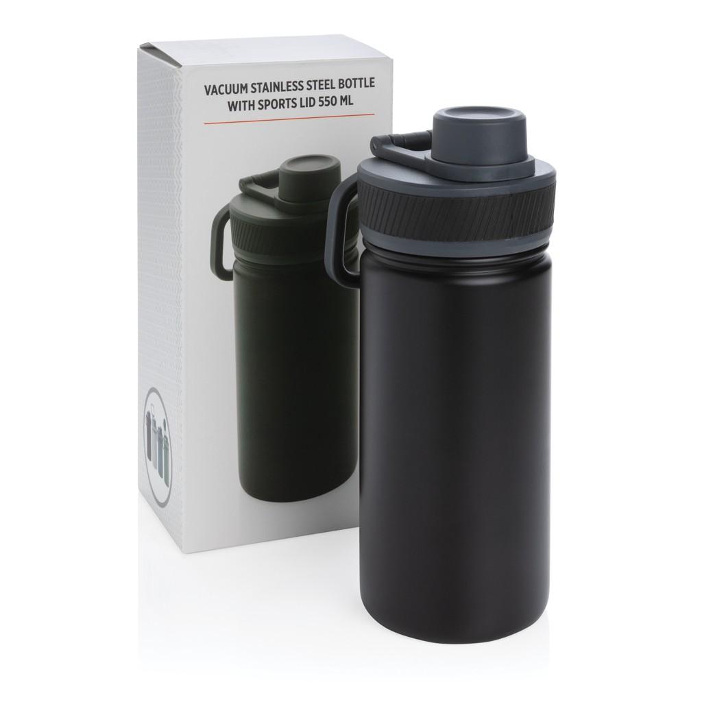 Vacuüm roestvrijstalen fles met sportdop 550ml, View 7