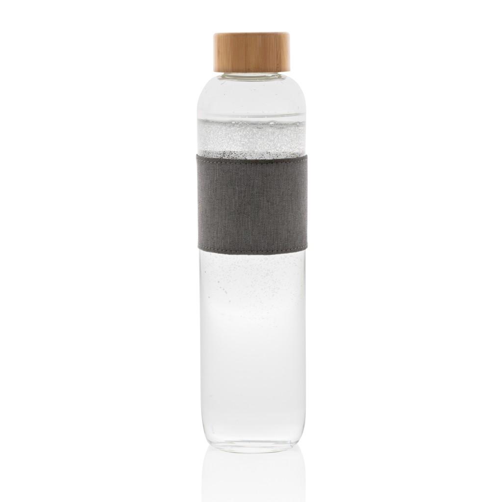 Impact borosilicaat glazen fles met bamboe deksel, View 4