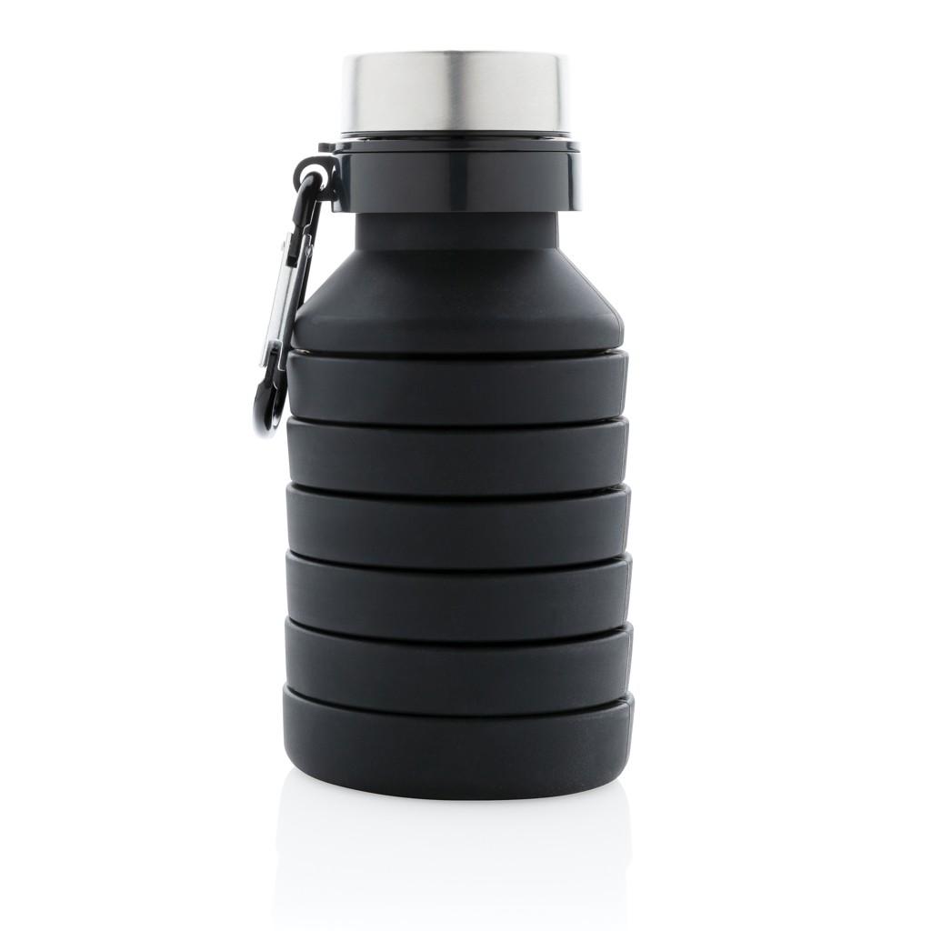 Lekvrije opvouwbare siliconen fles met schroefdop