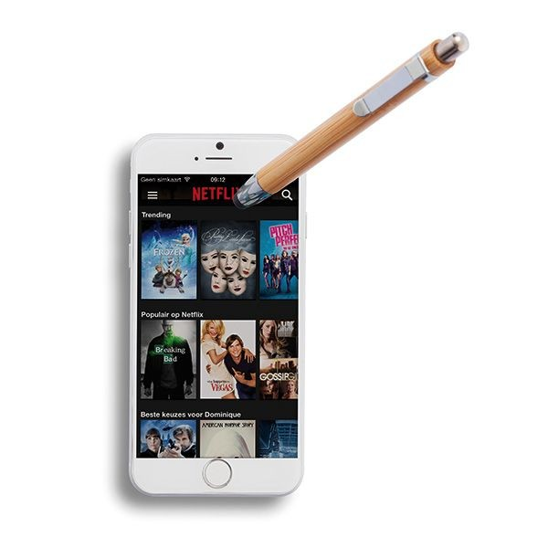 Bamboe touchscreen pen, bruin, View 7