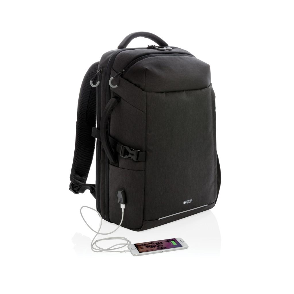 Swiss Peak XXL business & travel backpack met RFID en USB, View 4