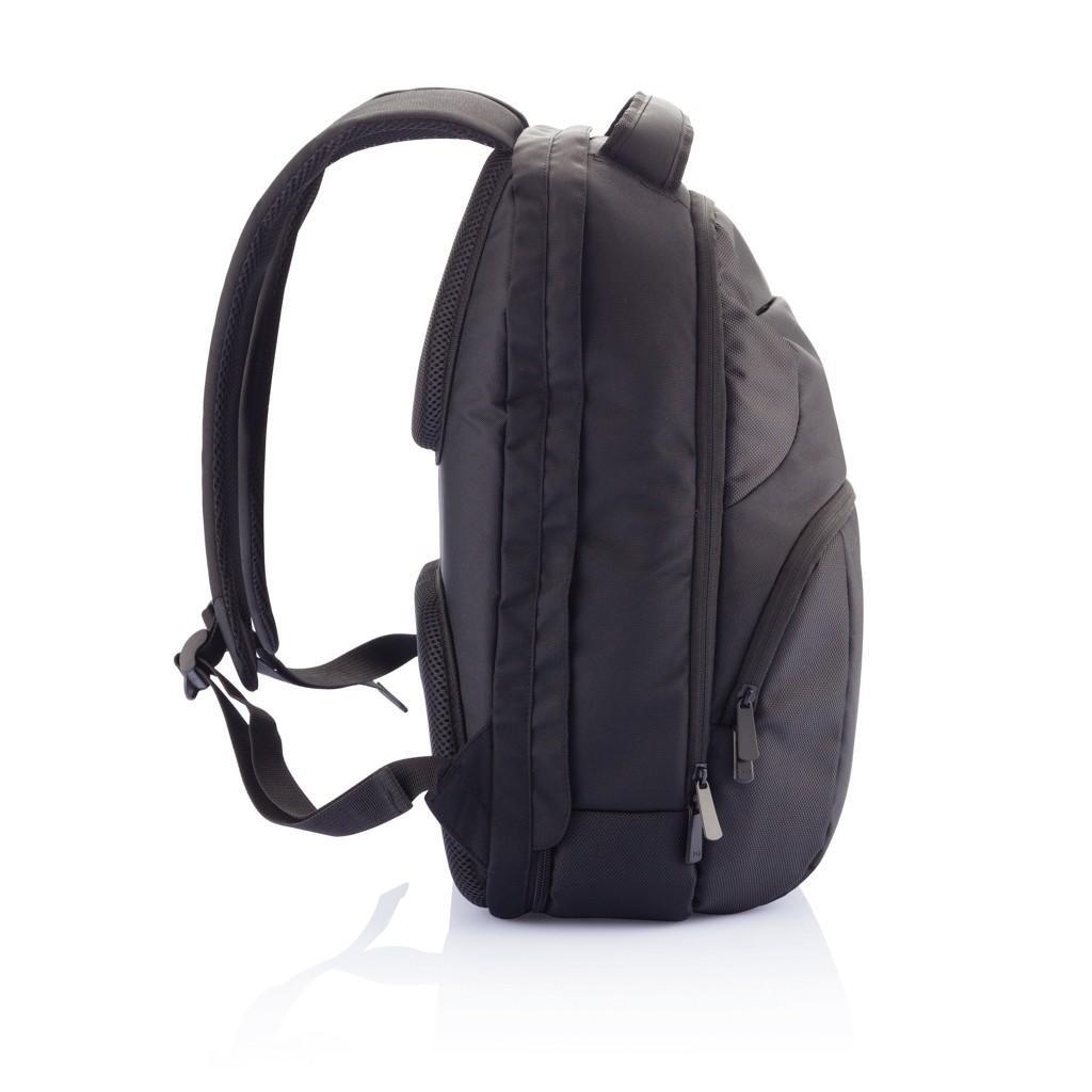 PVC vrije universele laptop rugtas, zwart, View 14