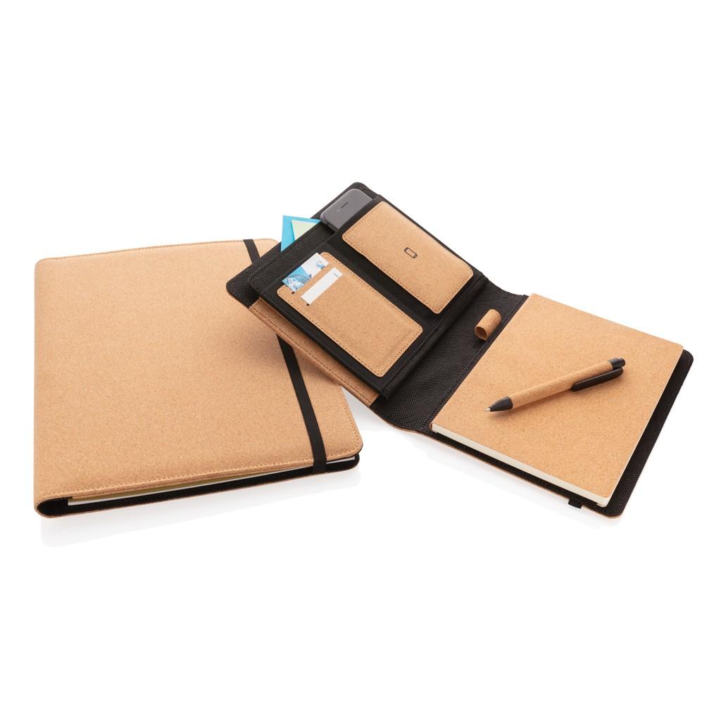 Deluxe kurken A5 portfolio met pen, View 9