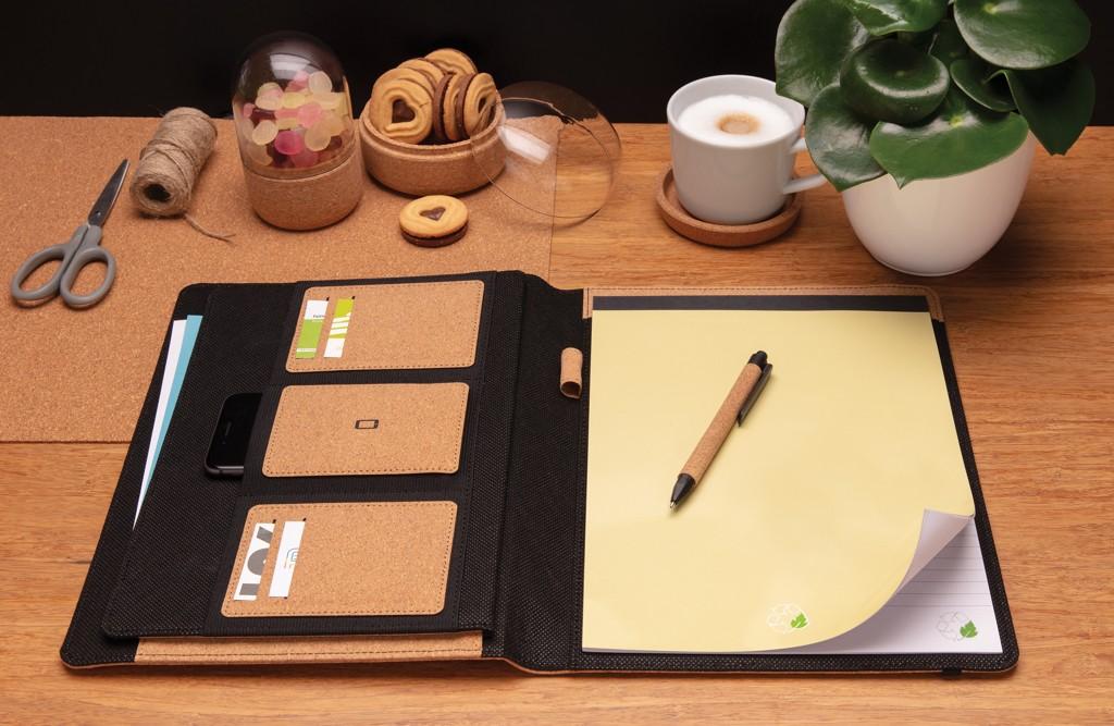 Deluxe kurken A4 portfolio met pen, View 10