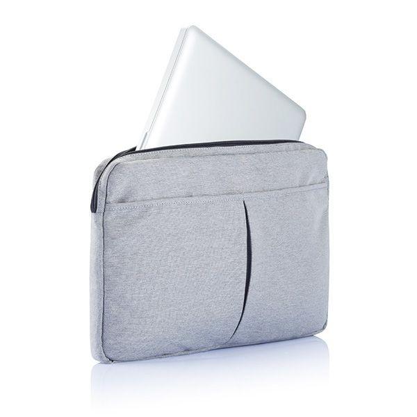 PVC vrije laptop hoes 15,4 grijs
