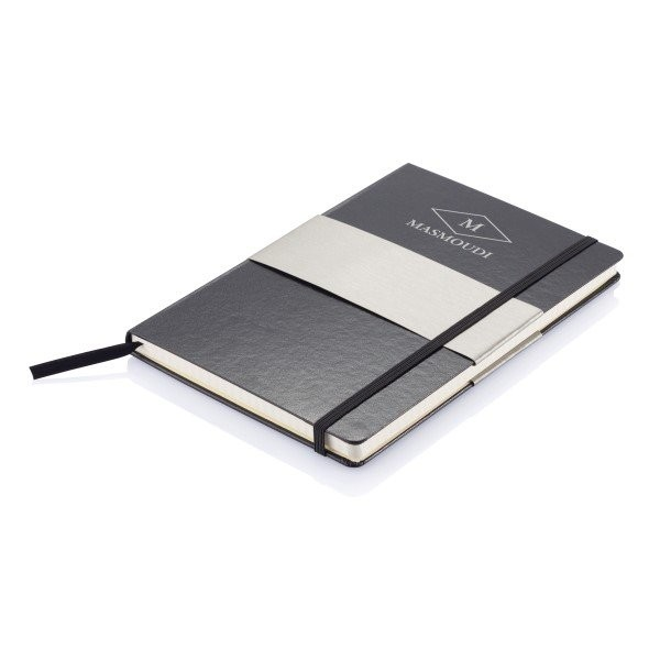 A5 rechthoekig hardcover notitieboek, zwart, View 12