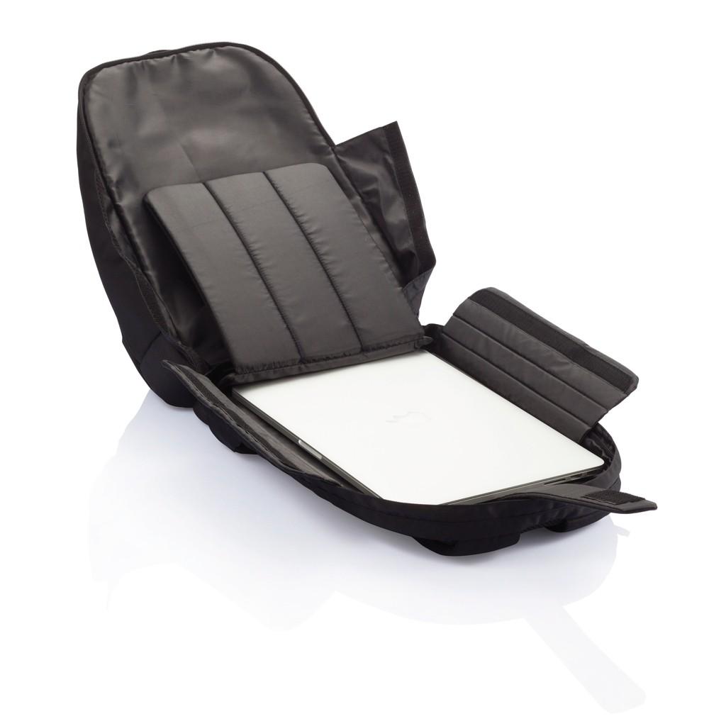 PVC vrije universele laptop rugtas, zwart, View 18