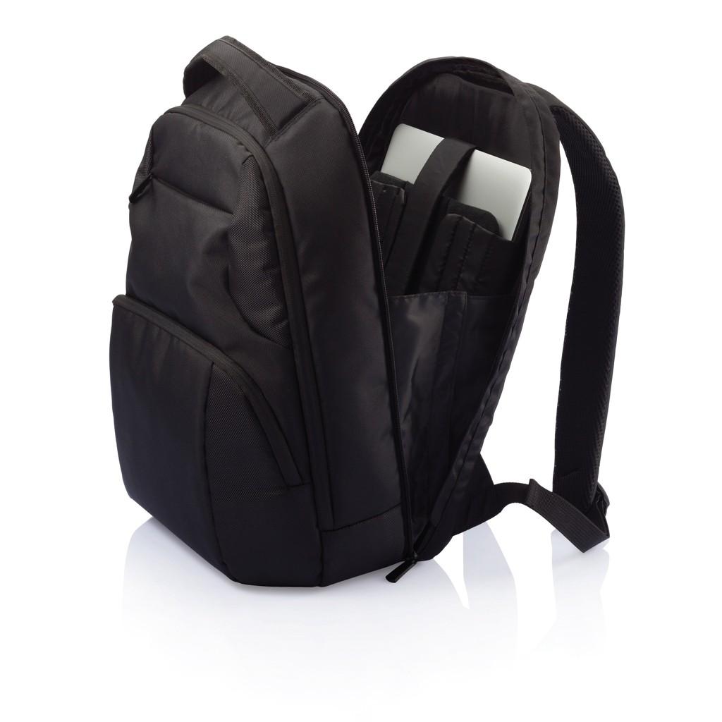 PVC vrije universele laptop rugtas, zwart, View 16
