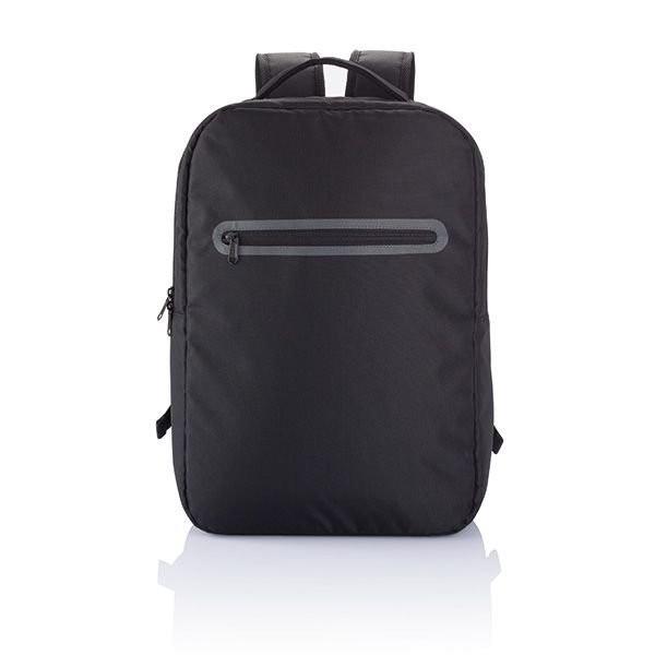 London PVC vrije laptop rugtas, zwart, View 3