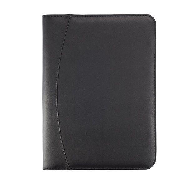 Essential zipper portfolio, zwart, View 4