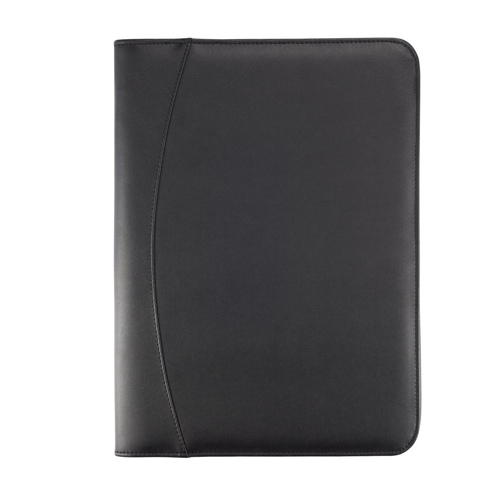 Essential zipper portfolio, zwart, View 7