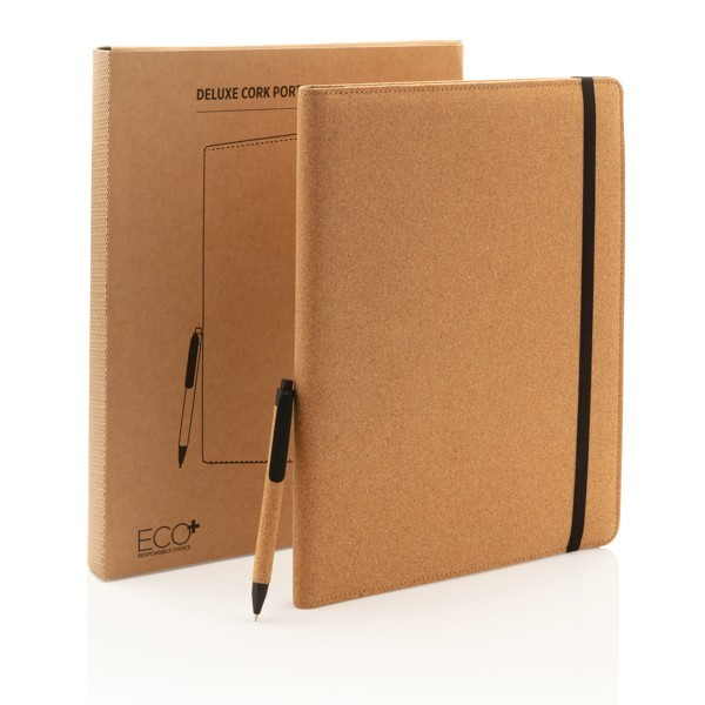 Deluxe kurken A4 portfolio met pen, View 7