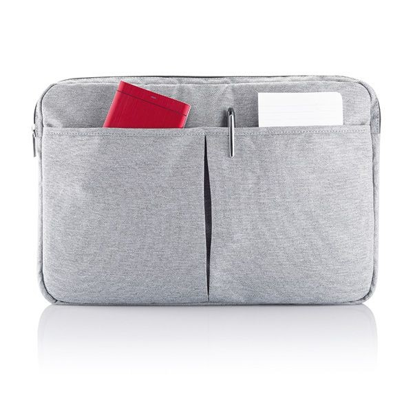 PVC vrije laptop hoes 15,4 grijs, View 4