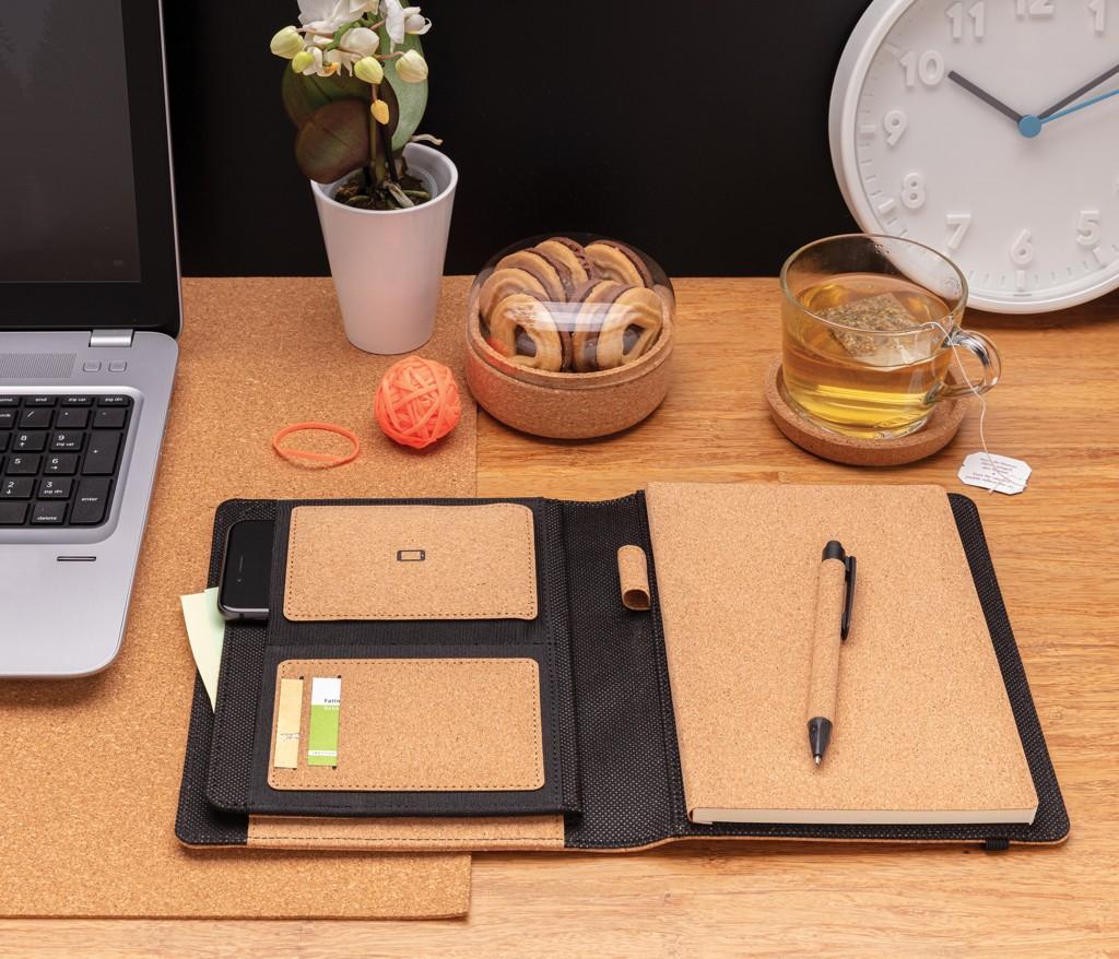 Deluxe kurken A5 portfolio met pen, View 10