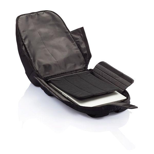 PVC vrije universele laptop rugtas, zwart, View 8