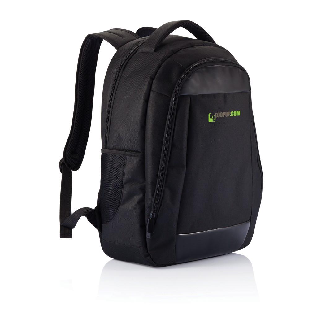 Boardroom PVC vrije laptop rugzak, zwart, View 10