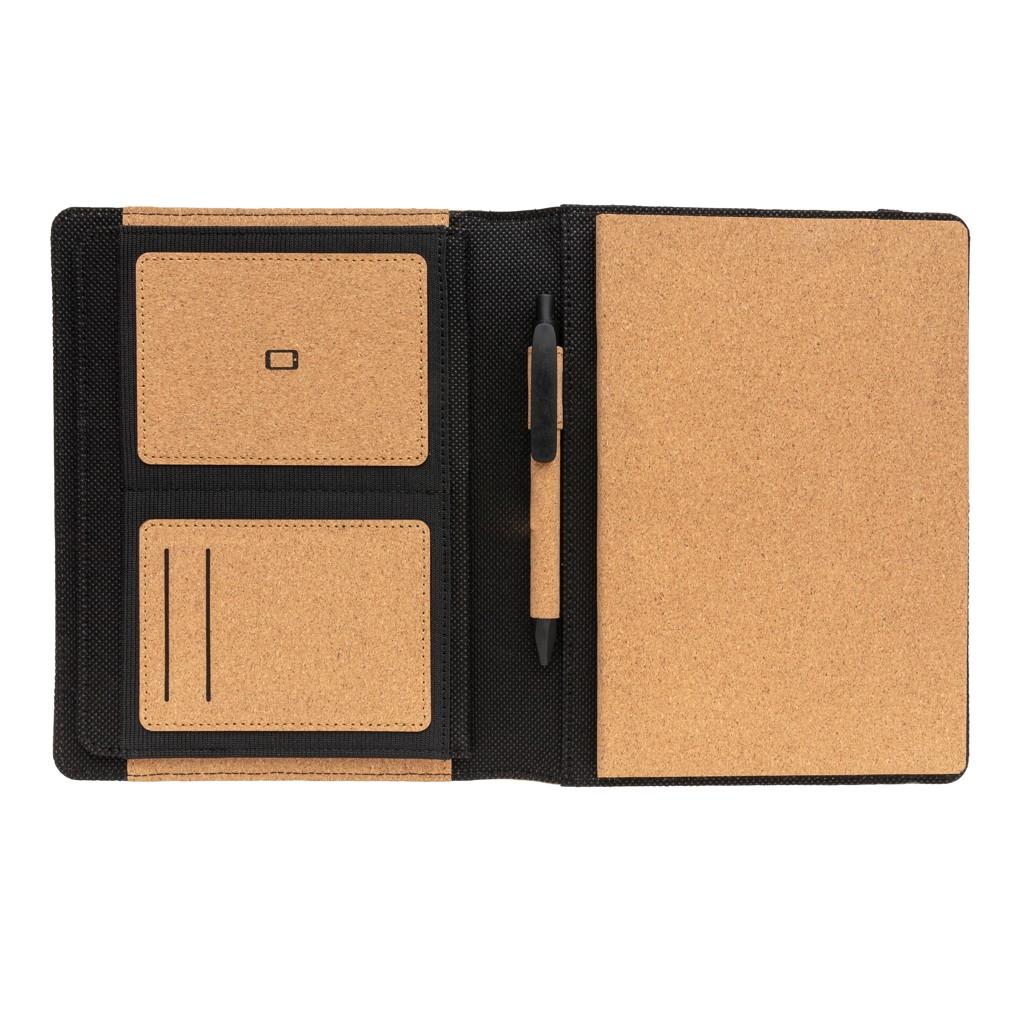 Deluxe kurken A5 portfolio met pen, View 3