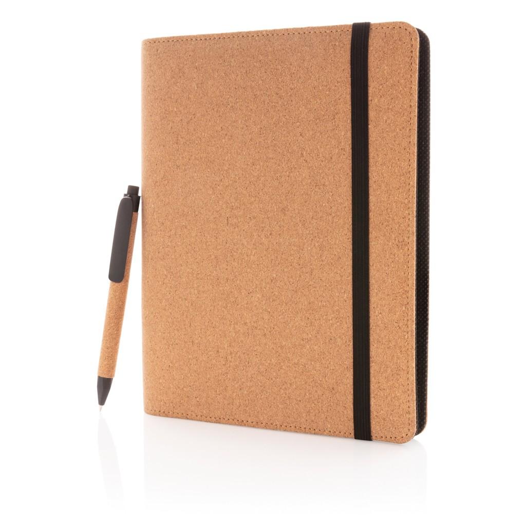 Deluxe kurken A5 portfolio met pen, View 2