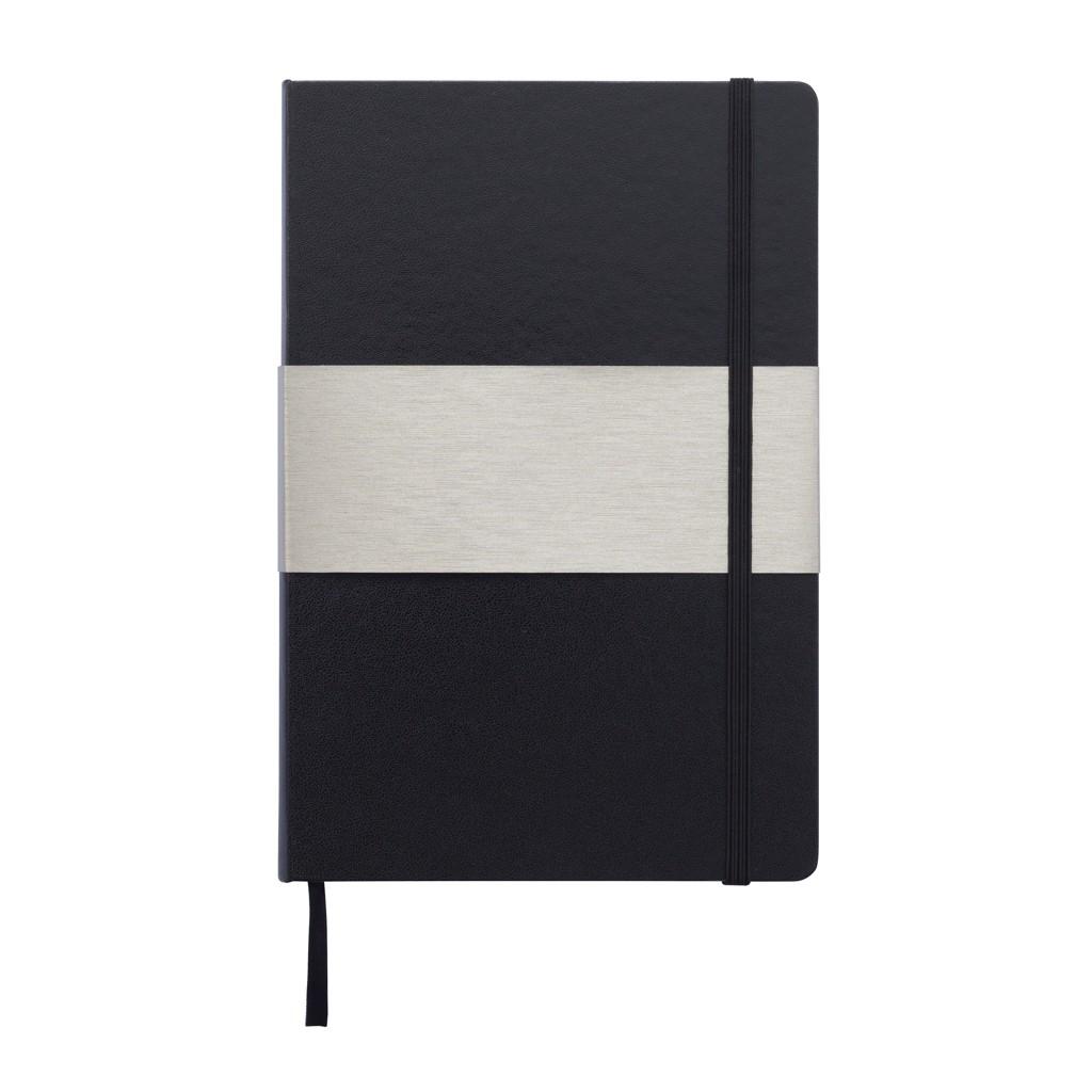 A5 rechthoekig hardcover notitieboek, zwart, View 10