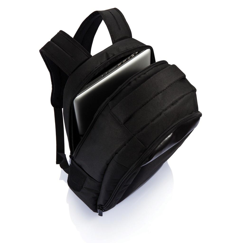 Boardroom PVC vrije laptop rugzak, zwart, View 9