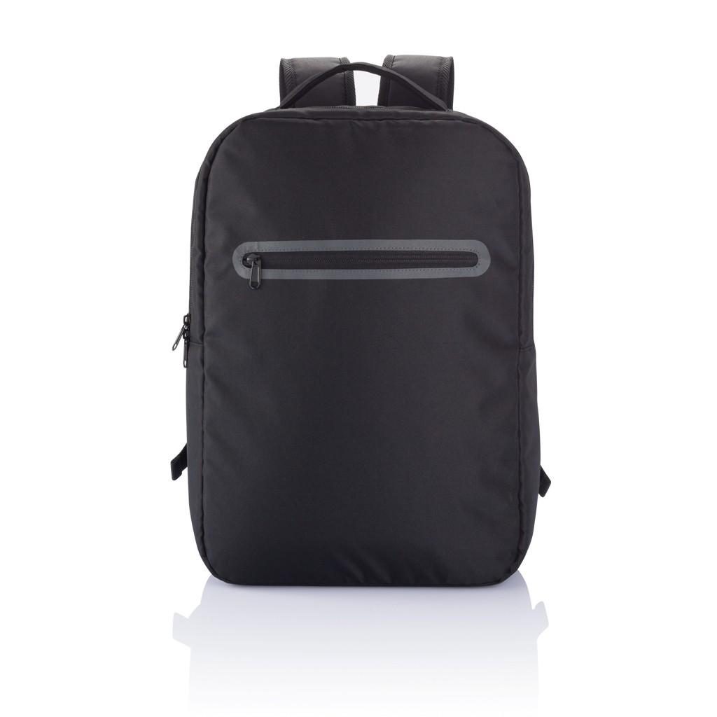 London PVC vrije laptop rugtas, zwart, View 5