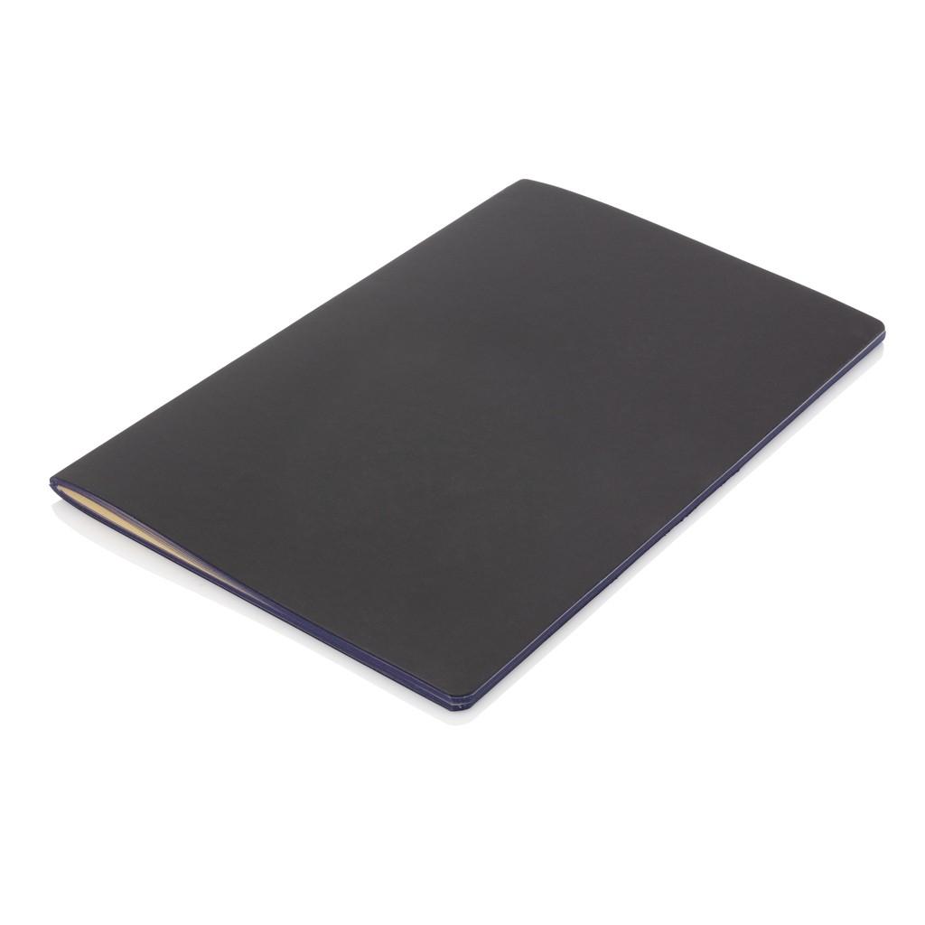 Softcover PU notitieboek met gekleurde accent rand, View 2