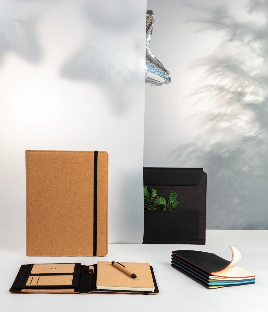 Softcover PU notitieboek met gekleurde accent rand, View 7