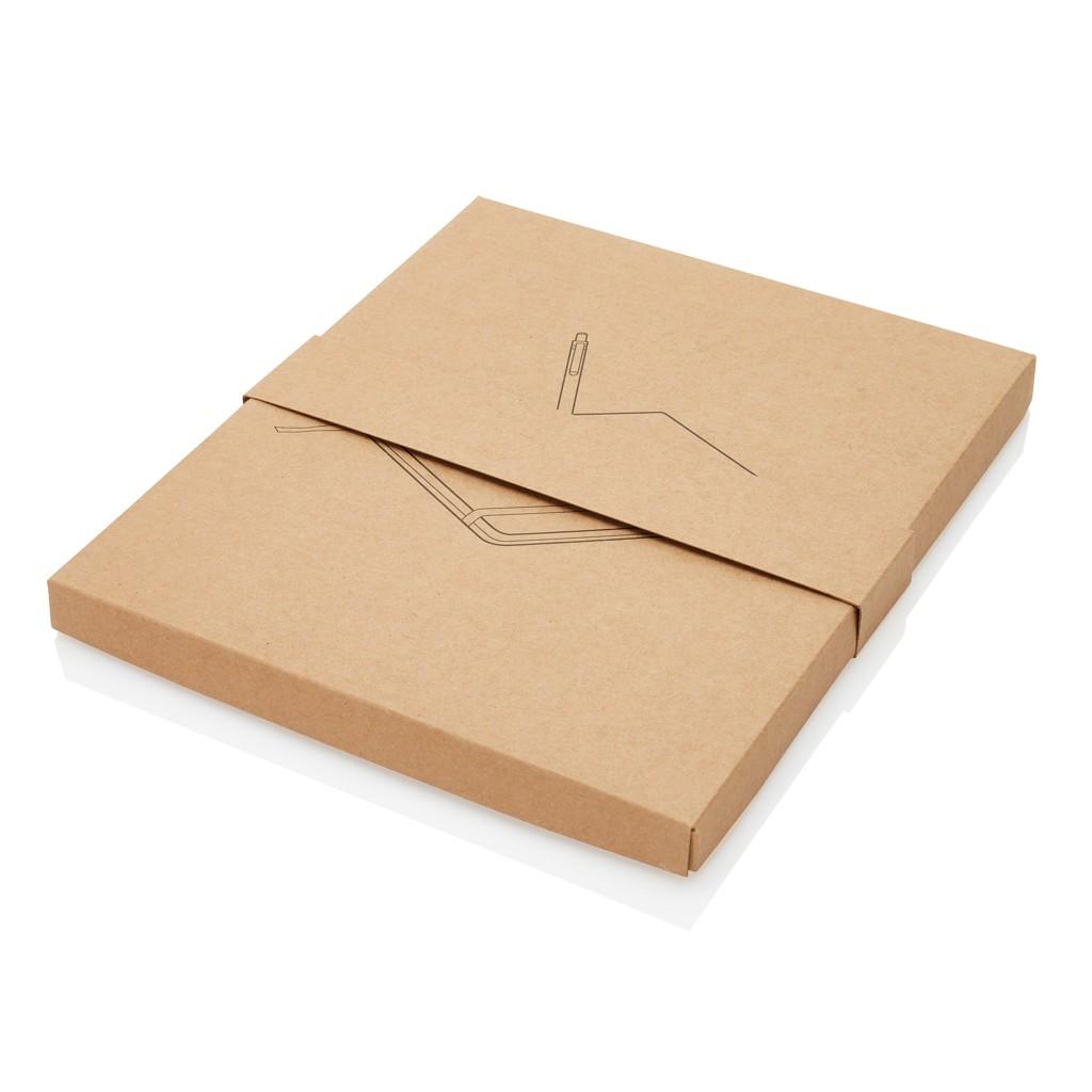 A5 kurken notitieboek incl. touchscreen pen, bruin, View 14