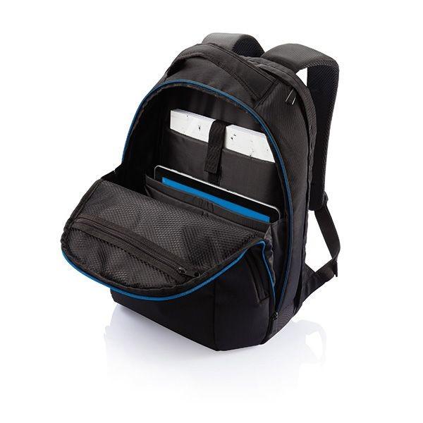 PVC vrije universele laptop rugtas, zwart, View 4